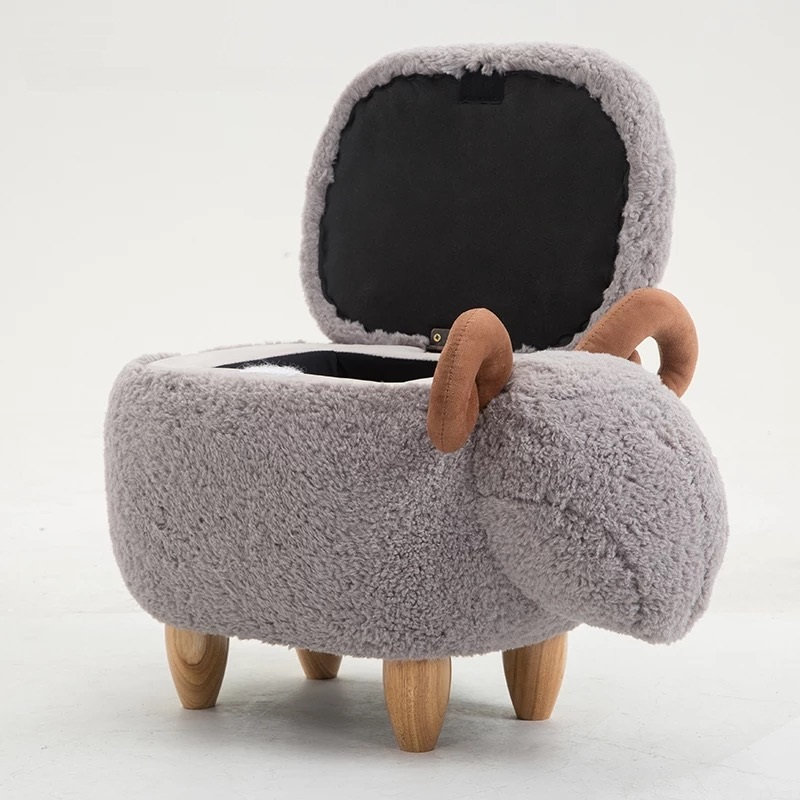 Free shipping U-BEST cute and funny sheep chair little creature cartoon chair for girl kid stool pouf ottomanFree shipping U-BEST cute and funny sheep chair little creature cartoon chair for girl kid stool pouf ottoman