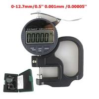 0 12.7mm/0.5'' Digital Thickness Gauge 0.001mm Electronic Micrometer Depth Micrometro Width Measuring Instruments