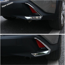 Lapetus Accessories Exterior Tail Rear Fog Lights Lamp Eyelid Eyebrow Strip Cover Trim ABS Shiny Fit For Lexus UX 200 250H 2019