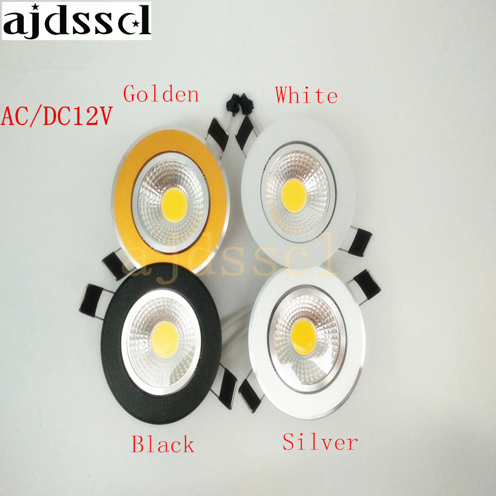 1PCS Super Bright Recessed LED Dimmable Downlight COB 3W 5W 7W 12W LED Spot light LED decoration Ceiling Lamp AC DC 12V in Downlights from Lights Lighting