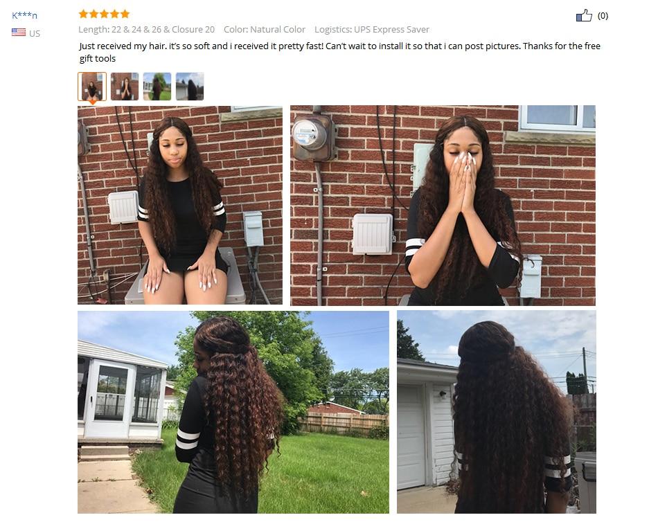 HTB1SJ 1kXkoBKNjSZFEq6zrEVXaU Princess Hair Deep Wave Bundles With Closure Double Weft Human Hair Brazilian Hair Weave 3 Bundles With Closure RemyMedium Ratio