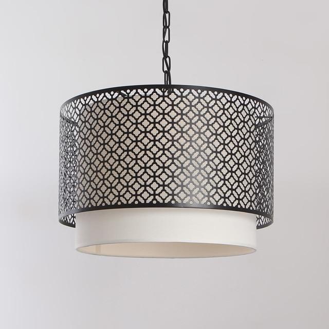 Morningstar Lighting IKEA Scandinavian Minimalist Modern Wrought Iron Lamps Circular Living Room Dining Chandelier Shade Cl