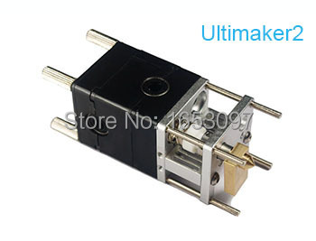 3D printer Ultimaker2 Single nozzle hot extrusion head extrusion head end kit 3d printer print head Free shipping wholesale 3d printer um2 aluminum extruder for ultimaker 2 hot end kit 0 4mm nozzle free shipping