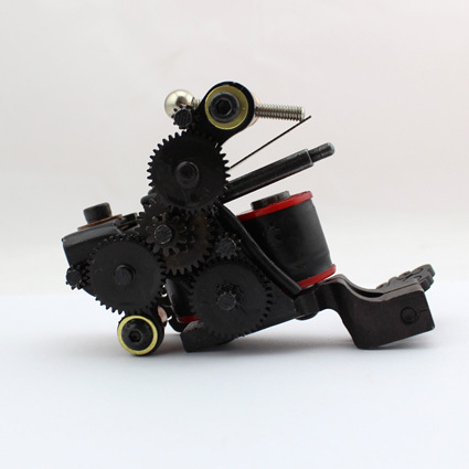 Professional Handmade Tattoo Machine 10-Wrap Coils  Iron Cast Frame Custom  Tattoo Gun For Liner Shader Free Shipping TM-819 8 wrap coils iron electric tattoo machine gun liner