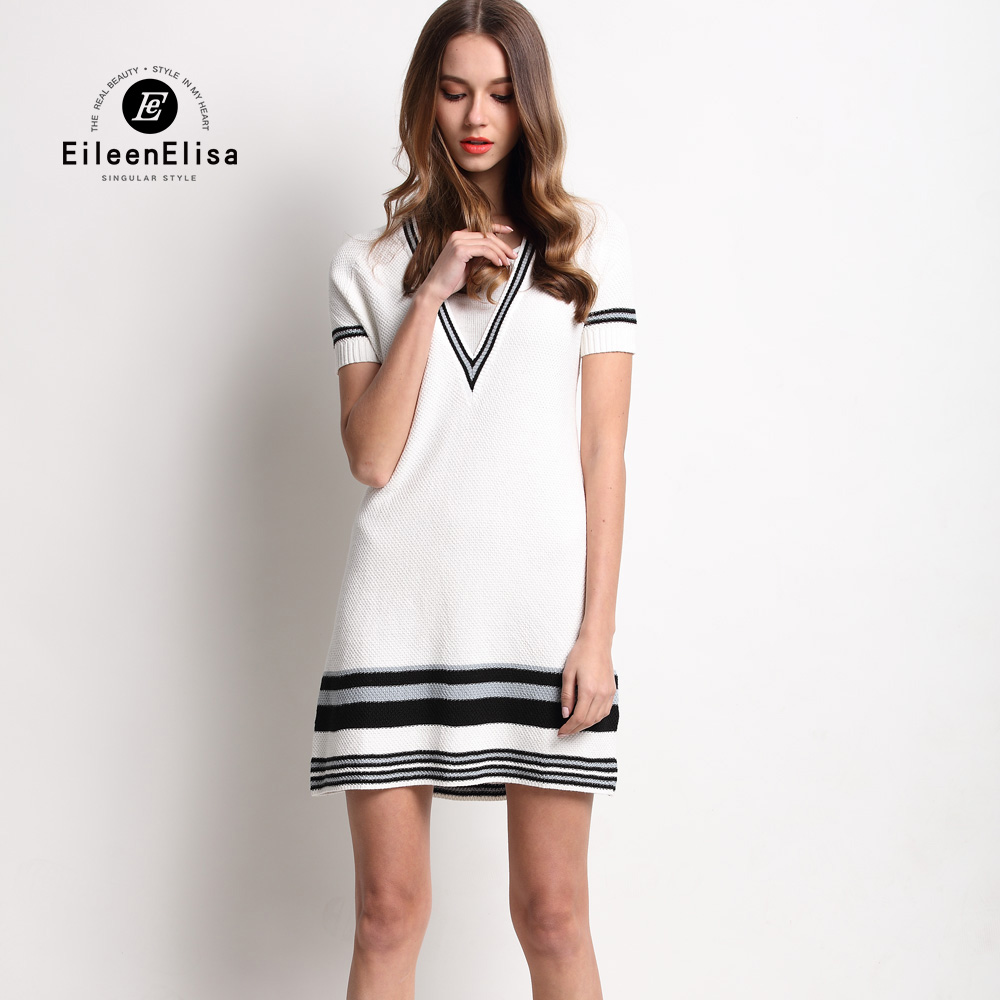 Luxury Brand font b Sweater b font Dress Short Sleeve EE Autumn font b Women s