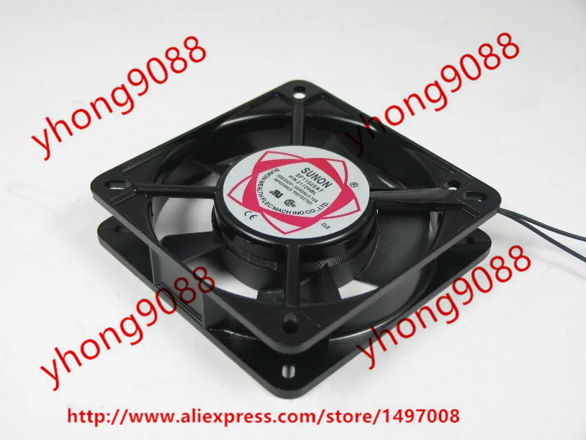 Free Shipping For SUNON SF11025AT AC 220V 0.10A 2-wire 110x110x25mm Server Square Cooling Fan free shipping original sunon 4020 12v 0 7w gm1204pkv2 a ultra quiet 2 wire cooling fan