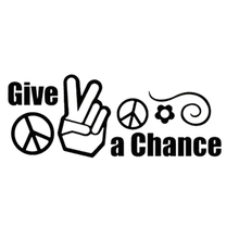 20*7.8cm Others Give Peace A Chance Decal Sticker For Motorcycle Helmet Car Truck Window Bumper Vinyl Decals 7 5 12 5cm alien peace sign we come in peace body car sticker fun personalized car stickers motorcycle decals ct 806