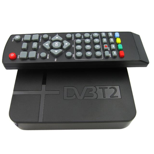 2016 Lleno Más Nuevo de HD 1080 P K2 DVB-T2 Digital Terrestre MPEG4 de Vídeo PVR STB Receptor Smart TV Caja Con Control Remoto Control