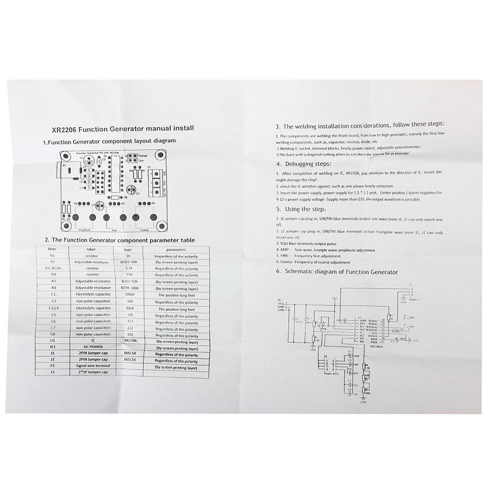 Xr2206 Function Generator Schematic Gain Amplifier Circuit Automotivecircuit Diagram Seekic Signal Diy Kit Sine Triangle Square Wave
