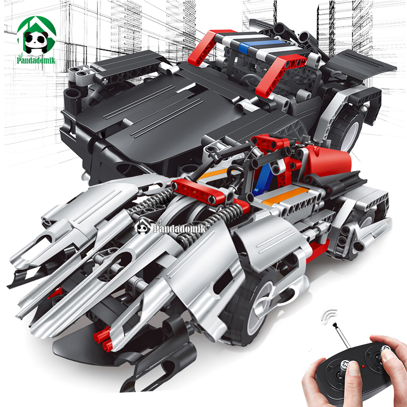 Assembler RC 2in1 Voiture Blocs de Construction Technique Briques Télécommande jouets Camion RC Voiture Enfants DIY Construction Jouets pour les Garçons cadeau
