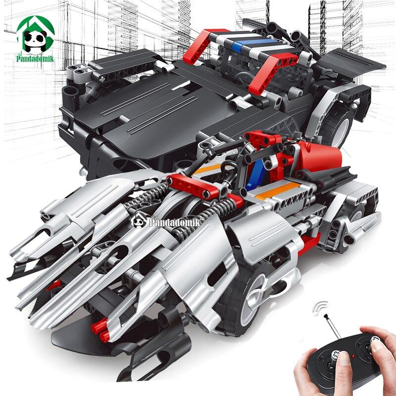 Assembler RC 2in1 voiture blocs de Construction briques techniques télécommande jouets camion RC voiture enfants bricolage Construction jouets pour garçons cadeau