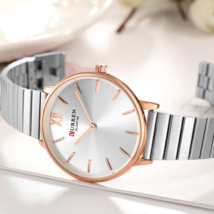 Image 5 - CURREN Luxury Women Watches Rose Gold Analogue Quartz Wrist Watch Female Clock Ladies Stainless Steel Watch relogios feminino