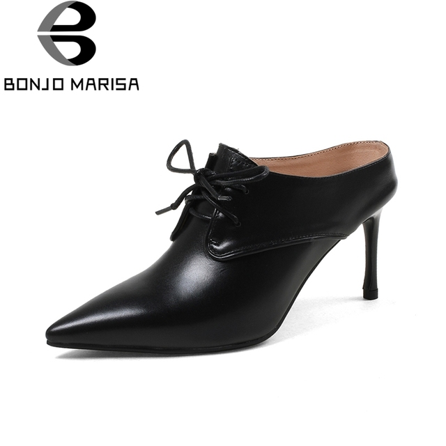4dcff0871 BONJOMARISA-cow-genuine-leather-thin-high-heels-women-shoes -graceful-mules-pumps-women-shoes-lace-up.jpg 640x640.jpg