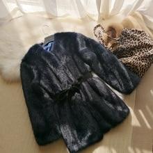 2018 New Style High-end Fashion Women Faux Fur Coat S43