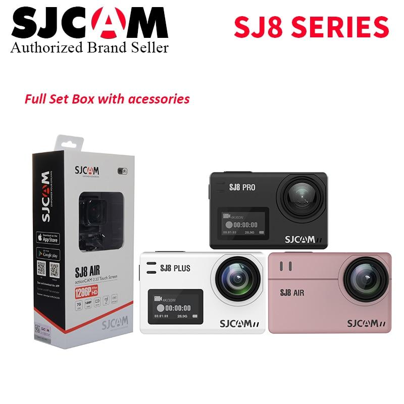SJCAM SJ8 Pro / SJ8 Plus / SJ8 Air Action Camera 4K 60fps Dual Touch Screen WiFi Sports DV Remote Control Helmet Camera Full Box