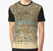 All Over Print T Shirt Homens Funy camiseta Londres 1860 T-Shirt Gráfico(China)