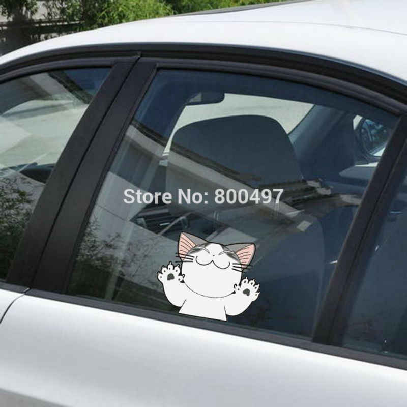 Đáng yêu Dễ Thương Cat Chí Sweet Home Với Big Paws Xe dán bao gồm xe ô tô đề can cho toyota honda chevrolet volkswagen tesla Lada