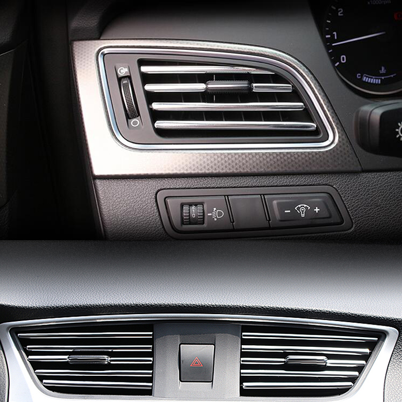 Car Styling Mouldings Interior Air Vent <font><b>Grille</b></font> Protector Strip For <font><b>Mercedes</b></font> Benz W202 W220 W204 W203 <font><b>W210</b></font> W124 W222 X204 AMG CLK image