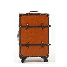 Обувь для девочек чемодан spinner ретро сумка тележка 20 Винтаж сумки на колёсиках 24 Колеса
