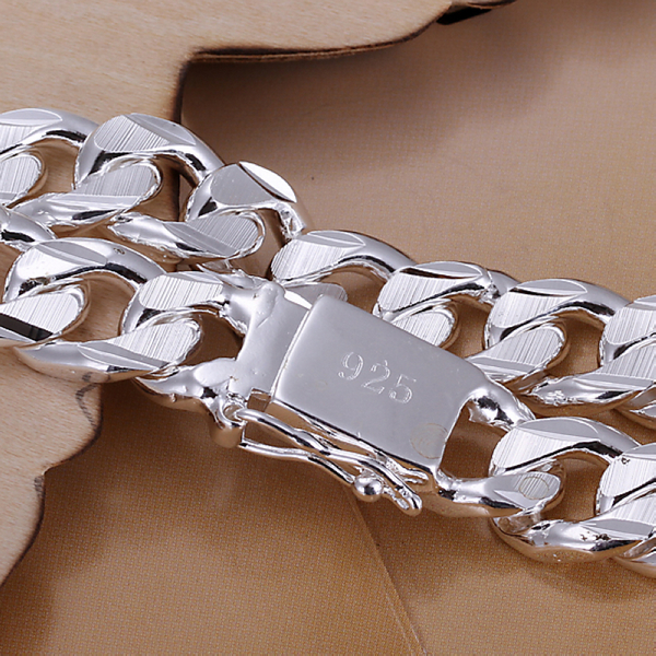 10 MM 8 INCH Fashion Russian Runway łańcuchy i bransoletki linkowe Srebrna bransoletka bransoletka męska biżuteria posrebrzana bransoletka