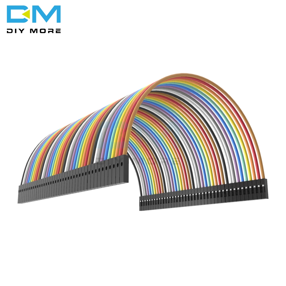 40pin 40PCS dupont cable jumper wire Ribbon dupont line female to female dupont line 10cm <font><b>1P</b></font> diameter:2.54mm For Arduino image