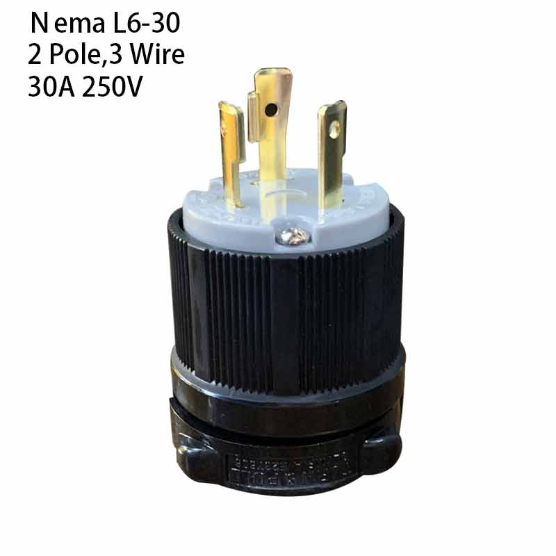 US Nema L6-30P Anti-drop Industrial Groungding Locking Plug 2 Pole 3 Wire  Connector plug with Power Cable Cord  30A 250VUS Nema L6-30P Anti-drop Industrial Groungding Locking Plug 2 Pole 3 Wire  Connector plug with Power Cable Cord  30A 250V