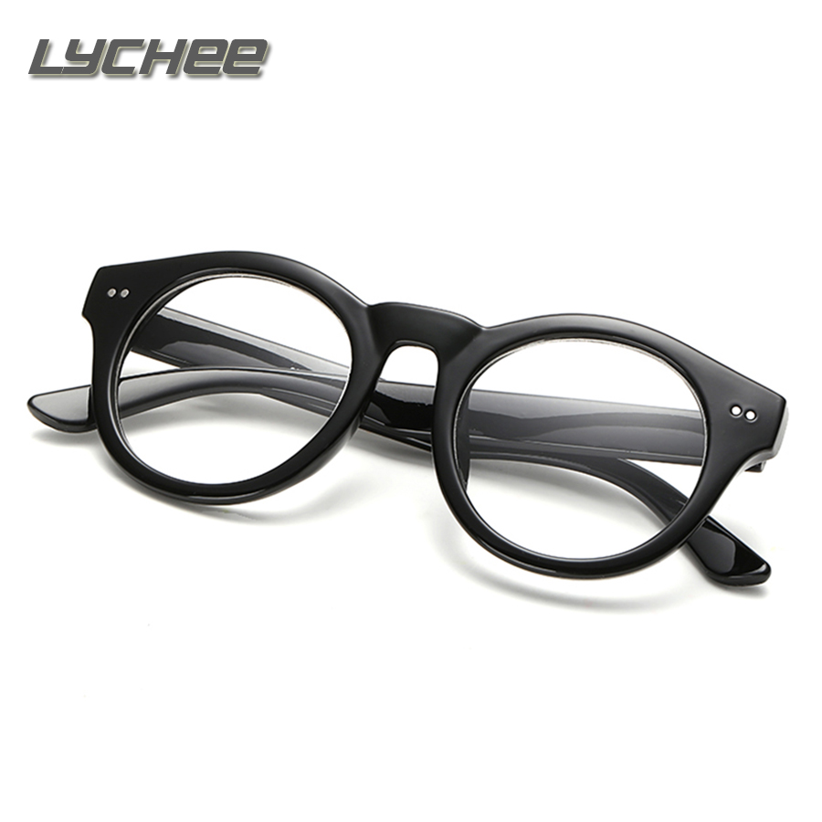 Eyeglasses frames in style - Lychee Newest Style Round Eyeglasses Frame Vintage Glasses Women Men Glasses Frame Optical Frame Glasses Oculos