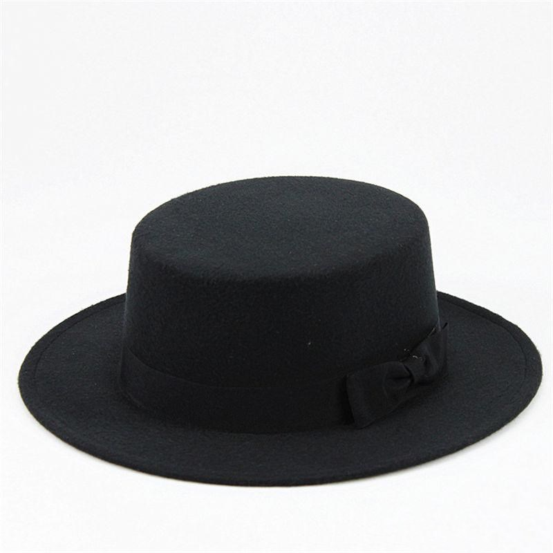 2019 Cotton Solid Brimmed Hat Travel Cap Fedoras Jazz Hat Panama Hats For Women And Girl 10