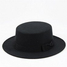 2019 cotton solid brimmed hat Travel cap Fedoras jazz hat Panama hats for women