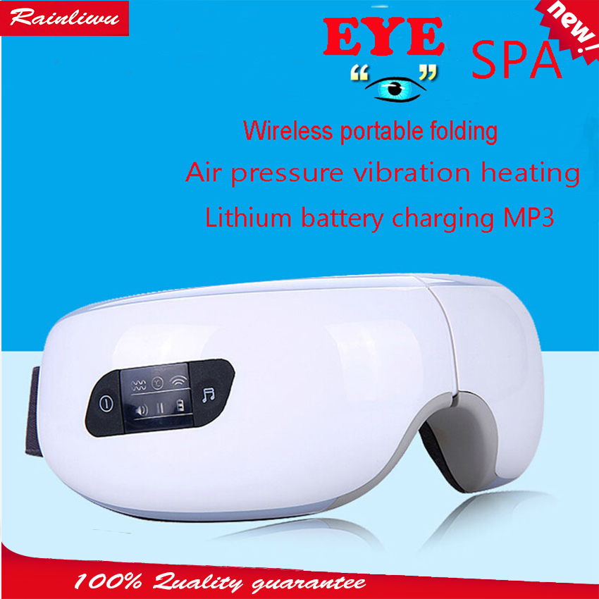 SPA de massagem olho Instrumento De pressão de Ar Elétrica Olhos massager de Vibração Magnética de Carregamento Sem Fio de Música dispositivo de massagem de aquecimento