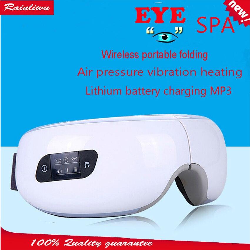 Массаж глаз SPA инструмент Электрический Air давление массажер для глаз музыка зарядки беспроводной Вибрационный магнитный Отопление массаж...