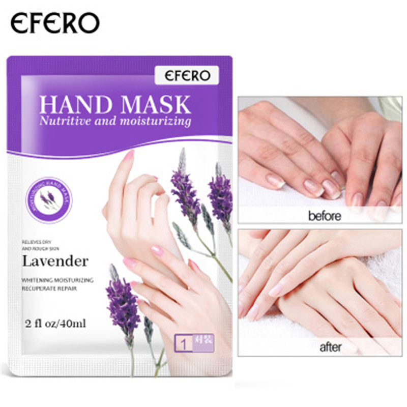 Lavender Moisturizing Soft Hand Mask Hyaluronic Dead Skin Remover Smooth Whitening Anti-Aging Hand Care Hand Mask Nails