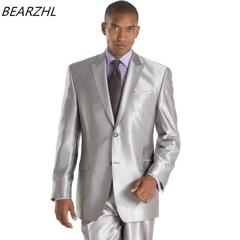 Maßgeschneiderten Fit Maßgeschneiderte Splitter Slim Mens Anzüge Wear Formal Glänzenden Hochzeitsanzug Smoking 2017 Bräutigam xv1O4qWT4w