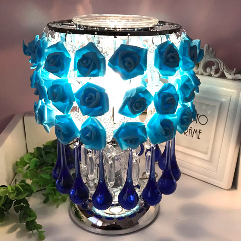 Romantic rose decoration red blue pink table lamp Wedding creative holiday gift living room bedroom lighting desk lamps ZA927525 romantic rose decoration red blue pink table lamp creative holiday gift living room bedroom lighting desk lamps za927525