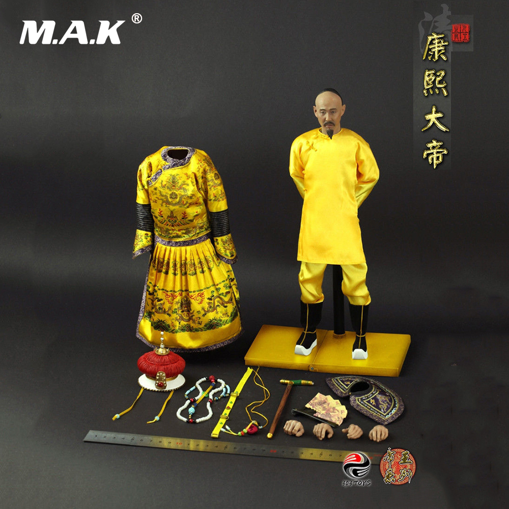TOYS ES3001 1 6 Qing Dynasty Series Of Emperors Kangxi Ancient Action Figures Model Full Set