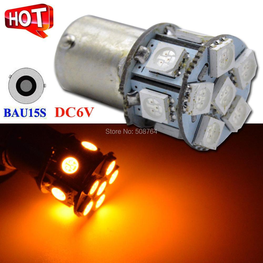 2x 6V 1156 ba15s 12 SMD LED White Car Bulb Light Brake//Turn//Tail//Reverse Lamp