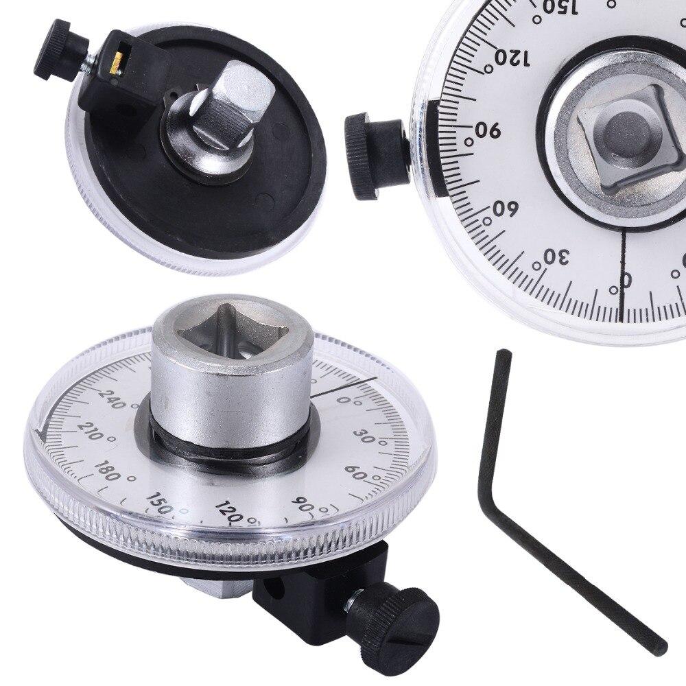 Professional Adjustable 1/2 inch Drive Torque Angle Gauge Car Auto Garage Tool Set Measurer Hand Tool Wrench
