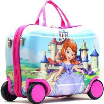 Enfants valise voyage casier sac à main garçon fille pension boîte bébé creative jouet boîte bagages peut s'asseoir à monter case à cocher enfant cadeau