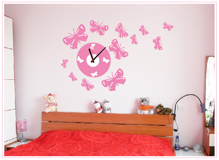 Creatieve klok fantasy prinses kamer muurstickers decoratieve