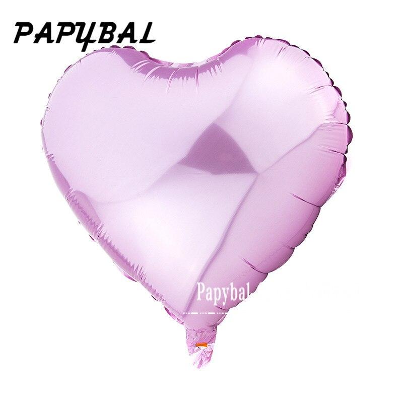 10 Stks 18 Inch Romantische Hart Parel Roze Folie Ballonnen Helium