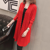 Women Cardigans 2018 New Cashmere Long Sleeve Scarf Collar Sweater Coat Casual Cardigan Jacket Shawl Coat Crochet Poncho