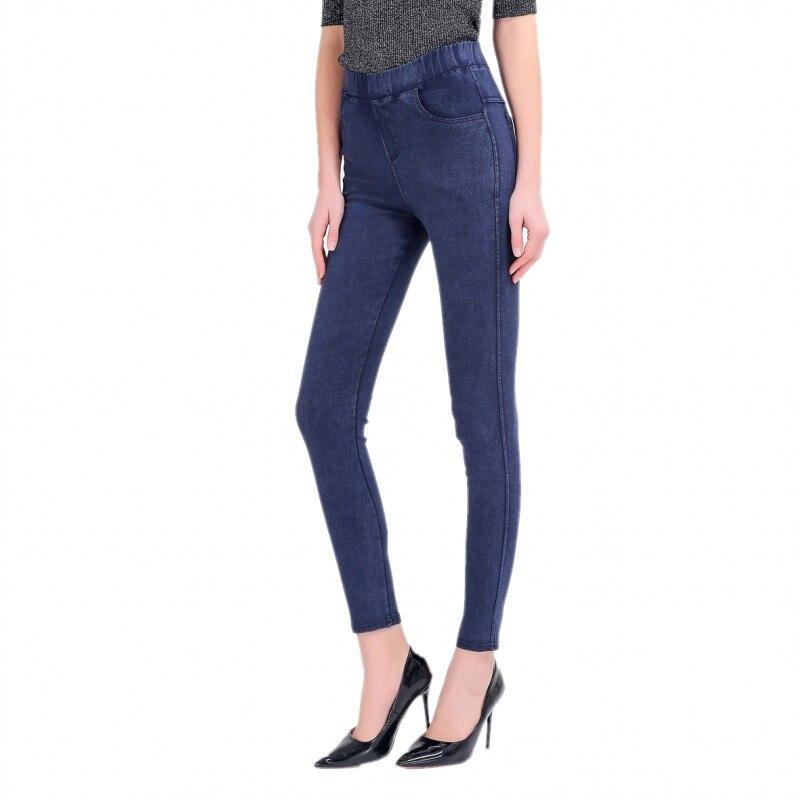50-150 KG Women Pants Plus Size High Waist Elastic Imitation cowboy Pants Casual Trousers Skinny Pencil Pants Capris For Women