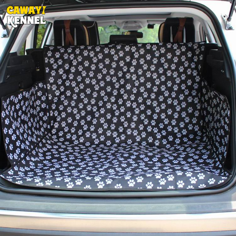 CANDY KENNEL Black Footprint Oxford impermeable perro mascota Cat Car - Productos animales