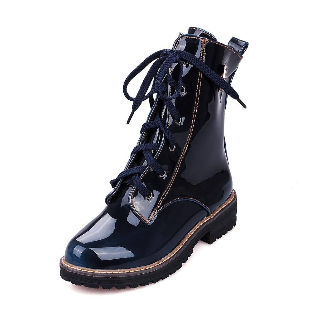 Loisirs Taille 34 Femme Bottes Plus 2018 Lapolaka Femmes Mode Dropship De marron Chaussures D'hiver Martin bleu Noir 43 wx8tY6q
