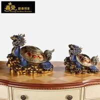 Медный дракон черепаха украшения xinrong сплетни ведущих черепаха домашнего интерьера фэн шуй украшения офиса