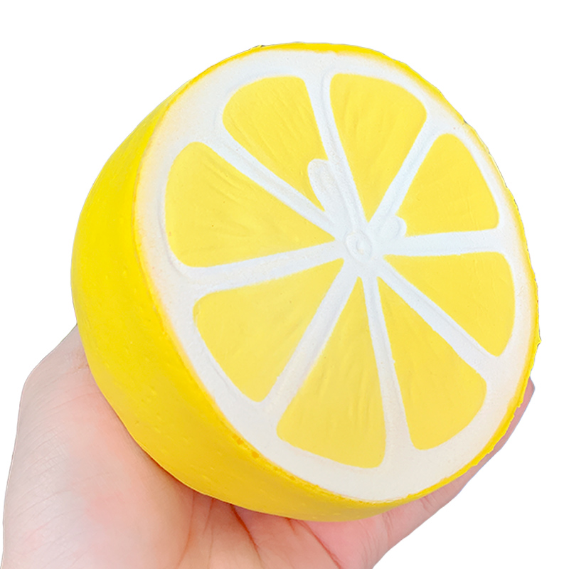 Squishy Jumbo Lemon Slow Rising Simulation Fruit Squeeze Toys Soft Bread Cake Scented Stress Relief Funny For Kid Gift 11*10CM