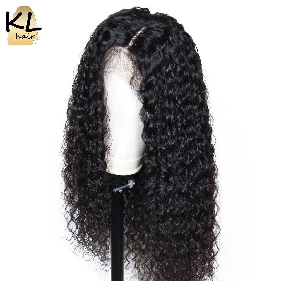 KL Curly 360 Lace Frontal Wig With Baby Hair Pre Plucked 150 Brazilian Remy Human Hair