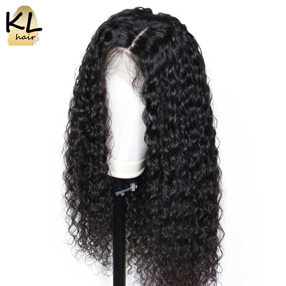 Кудрявые 360 волосы на кружеве al парик предварительно сорванные с волосами младенца 150% бразильские волосы remy 360 волосы на кружеве передние человеческие волосы парики для черных женщин KL