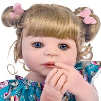 bebes reborn doll 55cm Baby girl Dolls Full Silicone Boneca Reborn Brinquedos Bonecas children's day gifts toys bed time plamate