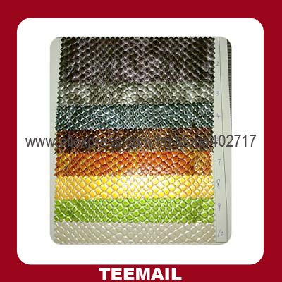 latest PU leather material with animal skin patter for handbags in retail selling